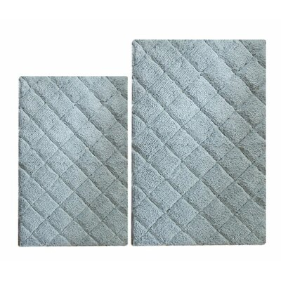 Impression 2 Piece Bath Rug Set Color: Blue