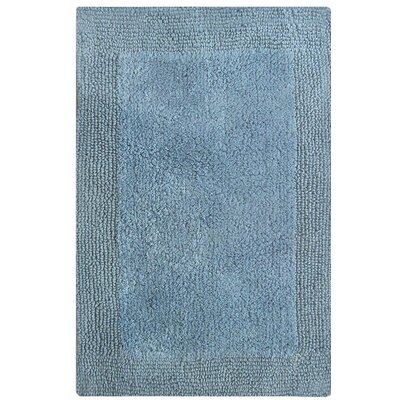 Splendor Reversible Bath Rug Size: 1 H x 21 W x 34 L, Color: Blue
