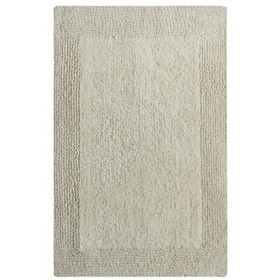 Splendor Reversible Bath Rug Size: 1 H x 21 W x 34 L, Color: Ivory