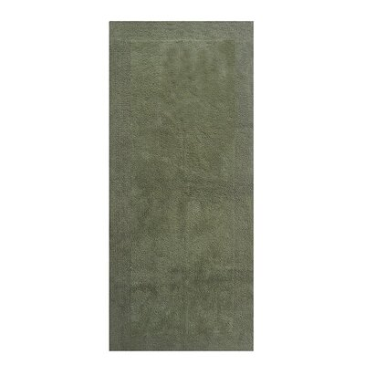 Splendor Reversible Bath Rug Size: 1 H x 24 W x 60 L, Color: Green