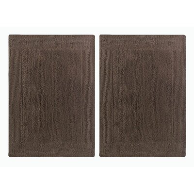 Splendor Reversible Step Out Bath Rug Color: Brown