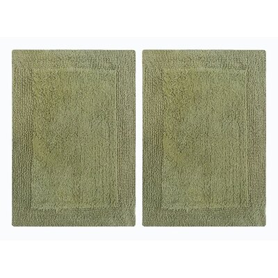 Splendor Reversible Step Out Bath Rug Color: Green