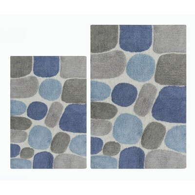 2 Piece Pebbles Bath Rug Set