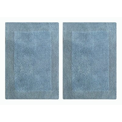 Splendor Reversible Step Out Bath Rug Color: Blue
