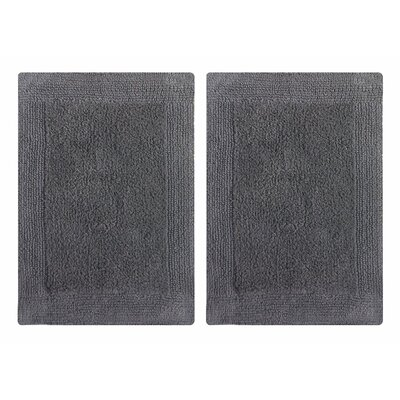 Splendor Reversible Step Out Bath Rug Color: Gray