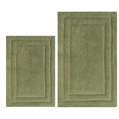Classic 2 Piece Bath Rug Set Color: Green