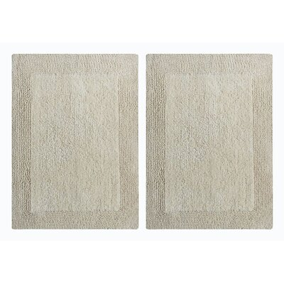 Splendor Reversible Step Out Bath Rug Color: Ivory