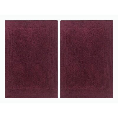 Splendor Reversible Step Out Bath Rug Color: Burgundy