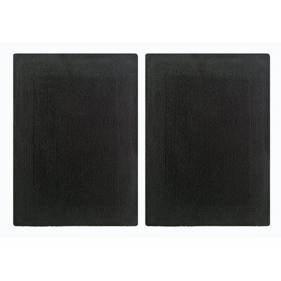 Splendor Reversible Step Out Bath Rug Color: Black