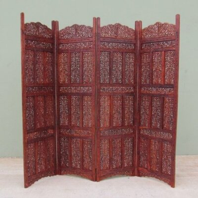 "71"" x 80"" Kashmiri 4 Panel Wooden Screen Room Divider NAU-SH158"