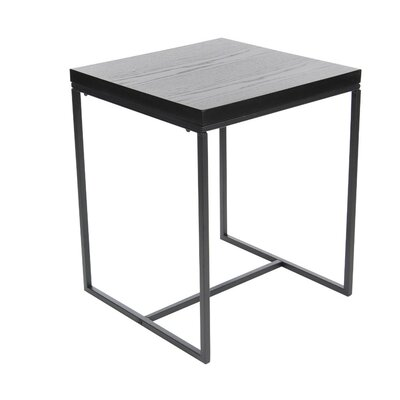 Gomes Metal Wood End Table