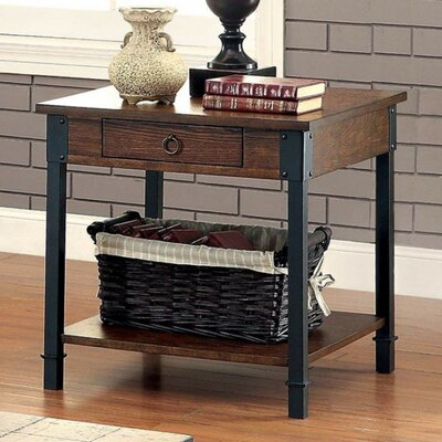 Braden Industrial End Table