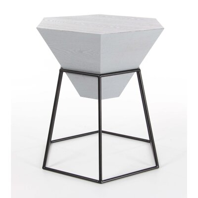 Bunker End Table Color: Gray