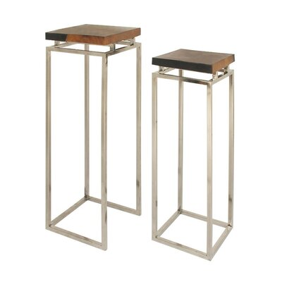 Broxton 2 Piece Pedestal Nesting Tables Set