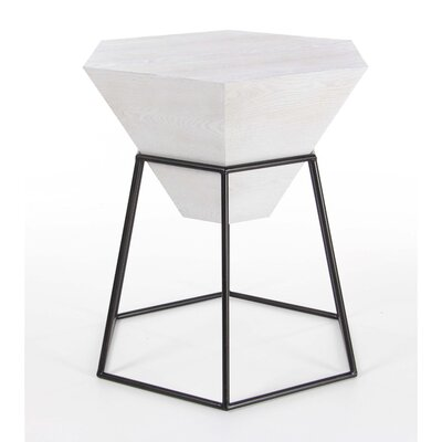 Bunker End Table Color: White