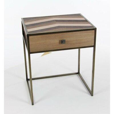 David Vintage Wood End Table