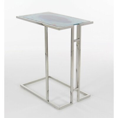 Hardin Iron Glass End Table