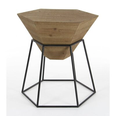 Bunker End Table Color: Brown