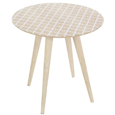 Duxbury Decoratively Patterned Wood End Table