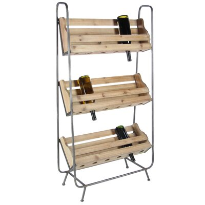 Rainier Metal Floor Wine Bottle Rack