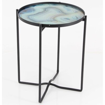 Cieslak Iron Glass End Table
