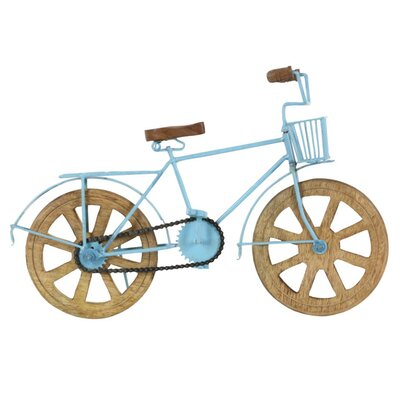 Engrossing Wood and Metal Model Bicycle