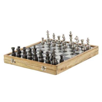 Luminous Aluminum Wood Chess Set BM119499