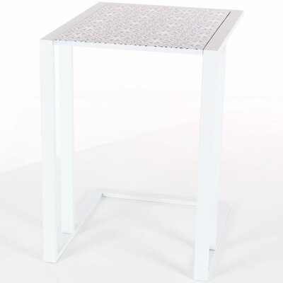 Chilmark Classy Metal Wood End Table