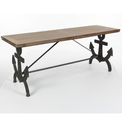 Reyes Metal Wood Anchor Console Table