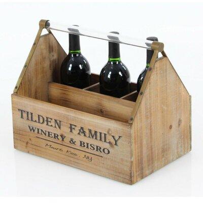 Annawan Rectangular Wood Tabletop Wine Bottle Rack