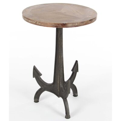 Pruitt Metal Wood Anchor End Table