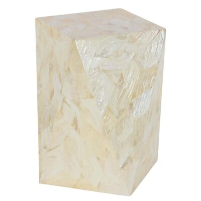 Klaus Inlay End Table Finish: White