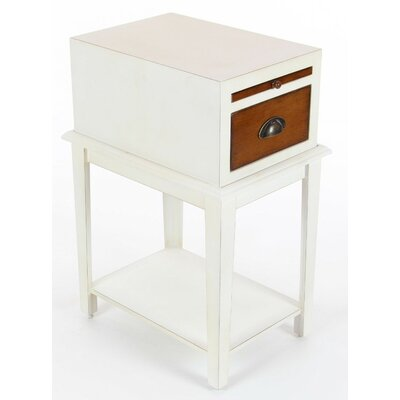 Albreda Wood End Table Color: White