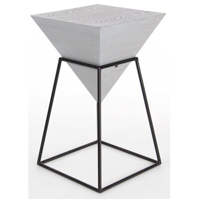 Bullins Square Shaped End Table Finish: Gray