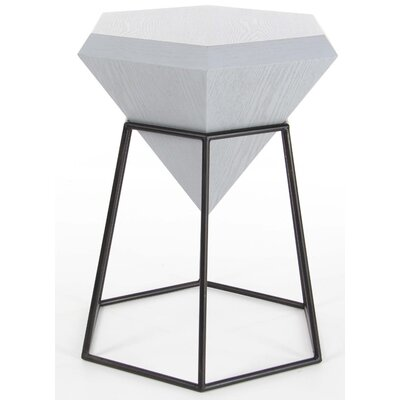 Davidson Diamond Shaped End Table Finish: Gray