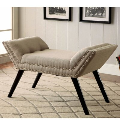 Palladio Upholstered Entryway Bench Upholstery: Ivory