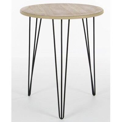 Yessenia Metallic Wood End Table
