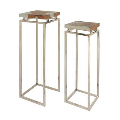 Irwin 2 Piece Duplex Resin Pedestal Nesting Tables