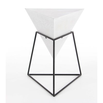 Buentello End Table Finish: White