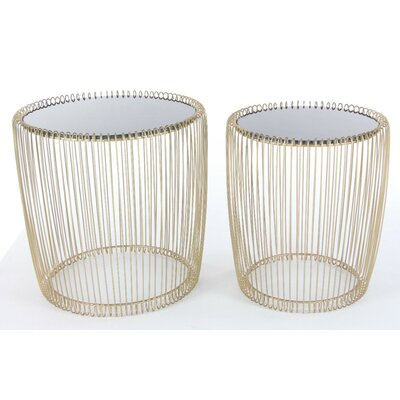 Bukowski 2 Piece Metal Nesting Tables
