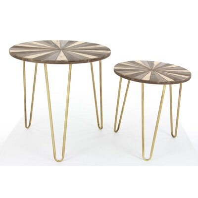 Crumpton 2 Piece Metal Nesting Tables