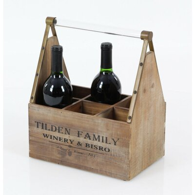 Ansara Wood 6 Bottle Tabletop Wine Bottle Rack