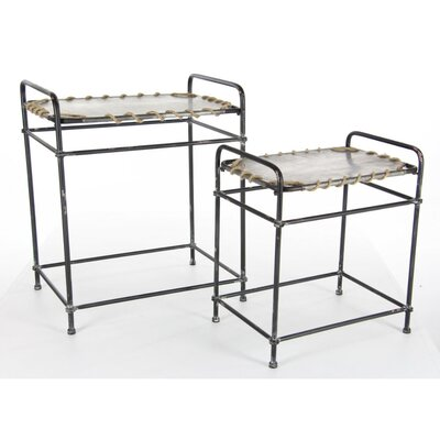 Bartlett 2 Piece Metal Rope Nesting Tables