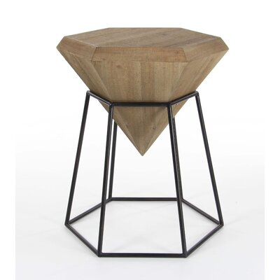 Davidson Diamond Shaped End Table Finish: Brown