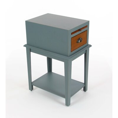 Albreda Wood End Table Color: Blue