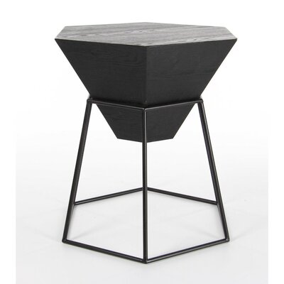 Bunker End Table Finish: Black