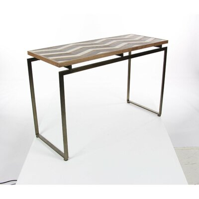 Saulsbury Finished Wood Metal Console Table