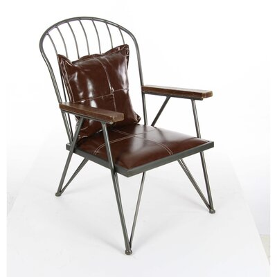 Dominick Metal Wood Arm Chair