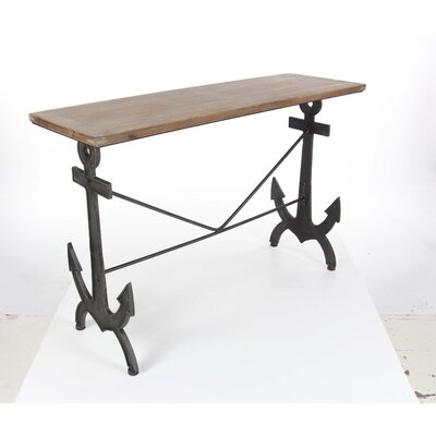 Mooney Metal Wood Console Table