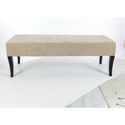 Palmer Elegant Wood Upholstered Bench Upholstery: Beige